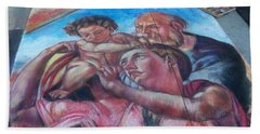 Chalk Painting By Street Artist Hand Towel