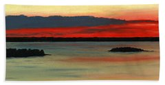 Chambers Island Sunset II Bath Towel