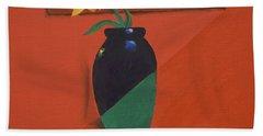 Chameleons Vase Hand Towel