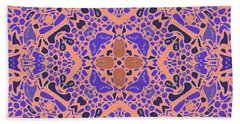 Bath Towel featuring the digital art Chandra Periwinkle Edges Kaleidoscope by Joy McKenzie