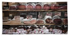 Charcuterie On Display In Butcher Shop In Old Nice Hand Towel