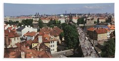 Charles Bridge Prague Czechoslovakia Bath Towel
