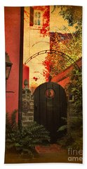 Charleston Garden Entrance Hand Towel by Kathy Baccari