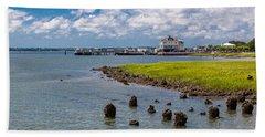 Bath Towel featuring the photograph Charleston Harbor by Sennie Pierson