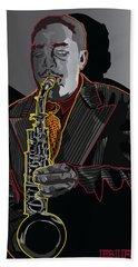 Charlie Parker Jazz  Saxophone Legend Hand Towel