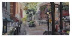 Charlottesville's Historic Downtown Mall Hand Towel by Donna Tuten