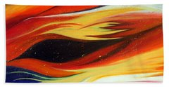 Hand Towel featuring the painting Charybdis by Michelle Joseph-Long