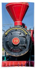 Hand Towel featuring the photograph Chattanooga Choo Choo Steam Engine by Susan  McMenamin