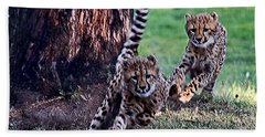 Cheetah Cubs Bath Towel