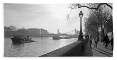 Chelsea Embankment London Uk 3 Hand Towel