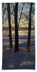 Chena River Trees Hand Towel by Cathy Mahnke