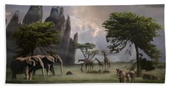 Cherish Our Earth's Creatures Bath Towel