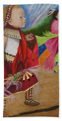 Cherokee Ribbon Dancers Bath Towel