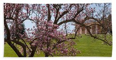 Cherry Blossom Trees At The Gravesite Hand Towel