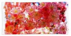 Cherry Blossums Bath Towel