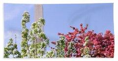 Cherry Trees And Washington Monument Four Bath Towel