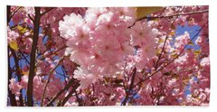 Cherry Trees Blossom Bath Towel