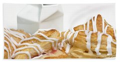 Bath Towel featuring the photograph Cherry Turnovers - Baker - Sweets Shoppe - And Milk by Andee Design