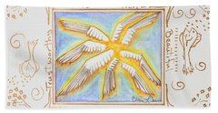 Bath Towel featuring the painting Cherubim by Cassie Sears