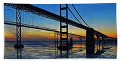 Chesapeake Bay Bridge Reflections Bath Towel