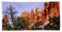 Chesler Park Pinnacles Hand Towel by Ed  Riche