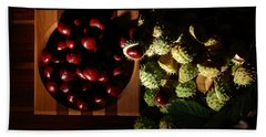 Bath Towel featuring the photograph Chestnuts by David Andersen