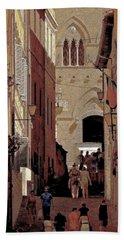 Chiaroscuro Siena  Hand Towel by Ira Shander