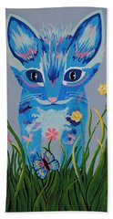 Bath Towel featuring the painting Chibi by Kathleen Sartoris