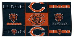 Chicago Bears Uniform Patches Hand Towel