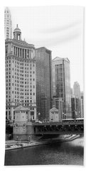 Chicago Downtown 2 Hand Towel by Bruce Bley