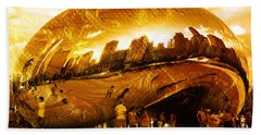 Hand Towel featuring the photograph Chicago Gold by Randi Grace Nilsberg