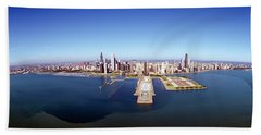 Chicago Harbor, Aerial Perspective Hand Towel