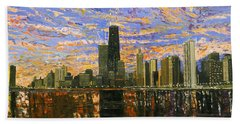 Chicago Hand Towel by Mike Rabe