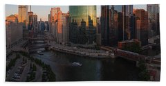 Chicago On The River Hand Towel