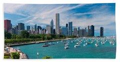 Chicago Skyline Daytime Panoramic Bath Towel