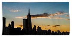 Chicago Skyline Silhouette Hand Towel