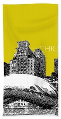 Chicago The Bean - Mustard Hand Towel