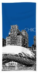 Chicago The Bean - Royal Blue Hand Towel