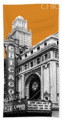 Chicago Theater - Dark Orange Hand Towel