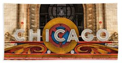 Chicago Theatre Marquee Sign Bath Towel