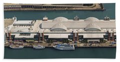 Chicago's Navy Pier Aerial Panoramic Hand Towel