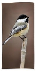 Chickadee Hand Towel by Bill Wakeley