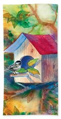 Chickadee Bungalow Hand Towel