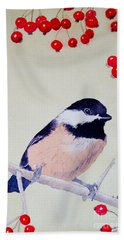 Chickadee Bath Towel by Laurel Best