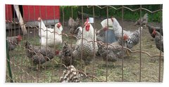 Chicken Coop. Hand Towel by Francine Heykoop