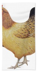 Chicken Hand Towel by Ele Grafton