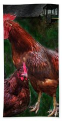 Chickens Hand Towel