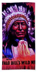 Chief Iron Tail Buffalo Bill's Wild West Hand Towel by Peter Gumaer Ogden