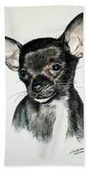 Chihuahua Black 2 Bath Towel