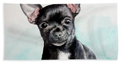 Chihuahua Black Bath Towel